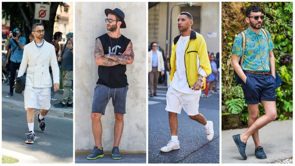 Sneakers with shorts
