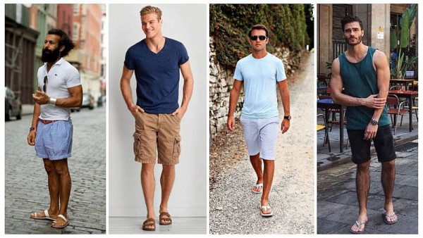 shorts with sandals