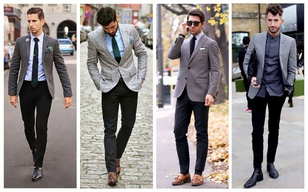 Grey Blazer + Black Trousers
