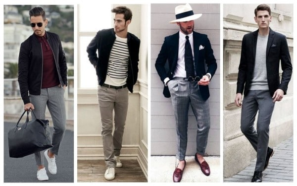 Black Blazer + Grey Trousers Separates Combinations