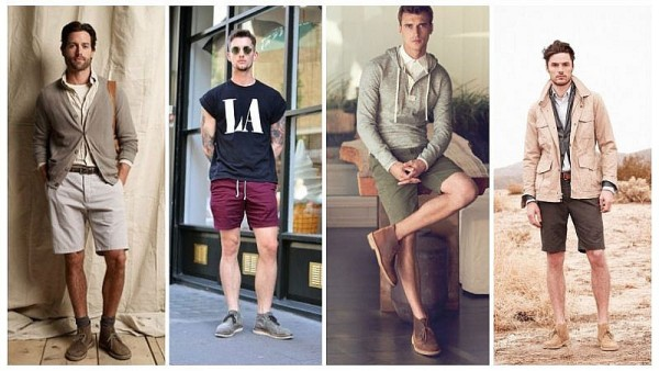 Desert Boots With Shorts
