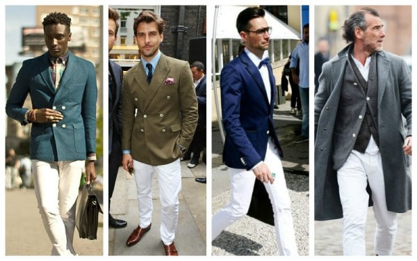 Colored Blazer + White Trousers Separates Combinations
