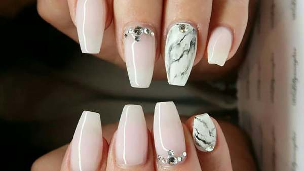 Elegant Coffin Shaped Nails