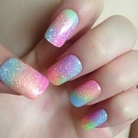 Rainbow Nails Design