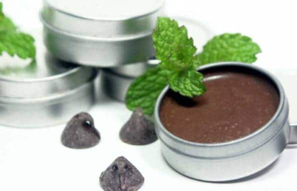 DIY Mint Chocolate  Lip Balm