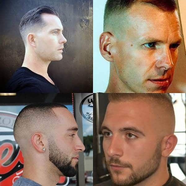 Short High Fade Haircut For Men With Receding Hairline
