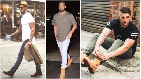 Timberland Boots with T-Shirt