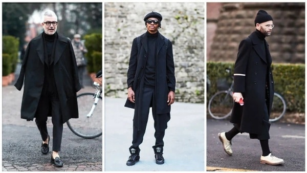 All Black Roll Neck Outfit