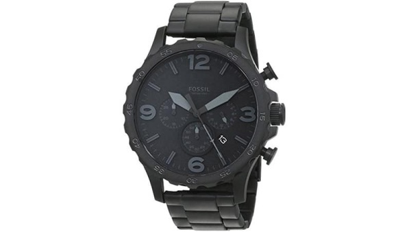Fossil Nate Brushed Steel Watch