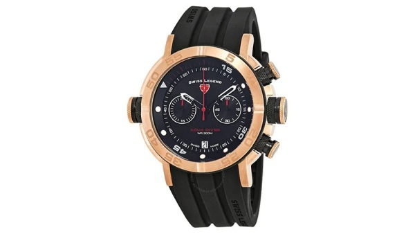 Swiss Legend Aqua Diver Chronograph Black Dial Watch