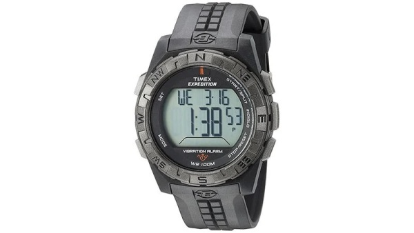 Timex Men's T49851 Expedition Vibration Alarm Black Resin Strap