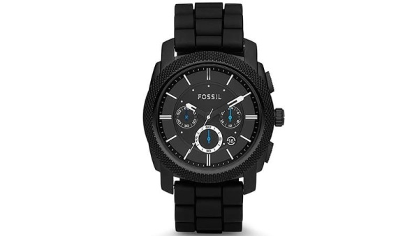 Fossil Men's FS4487 Machine Chronograph Black Stainless Steel