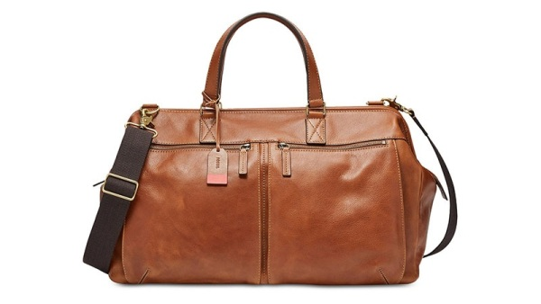 Fossil Men's Leather Duffel Bag