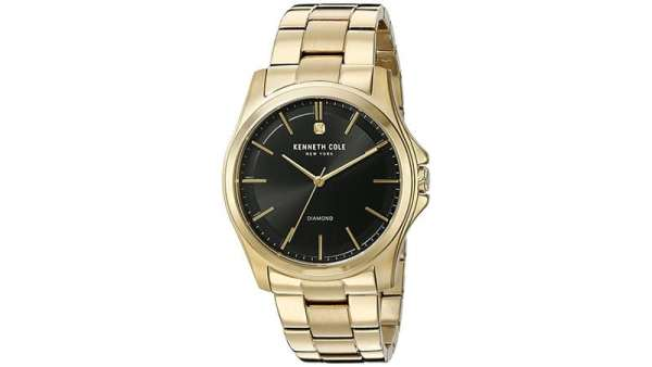 Kenneth Cole Diamond Rock Out Gold Tone Watch