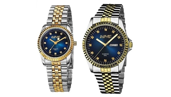 August Steiner AS8201 His and Hers Watch Set