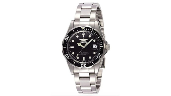 Invicta Men's Pro Diver Collection Silver-Tone Watch