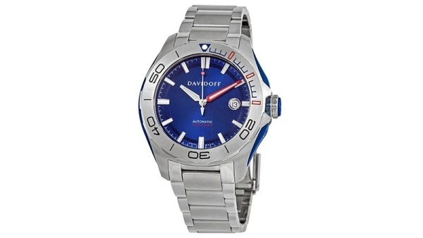 Davidoff Velocity Diver Automatic Blue Dial Men's Watch