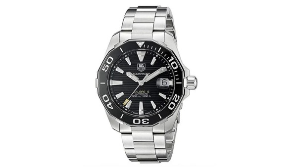 TAG Heuer Men's Aquaracr Display Swiss Silver Watch