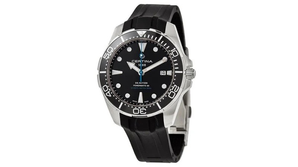 Certina DS Action Diver Black Dial Men's Watch