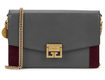 GV3 Leather & Suede Chain Wallet – GIVENCHY