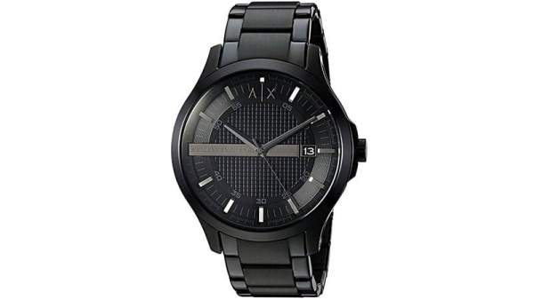 AX Armani Exchange Stainless Steel Black Watch