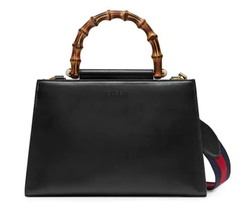 Nymphaea Leather Top Handle Bag
