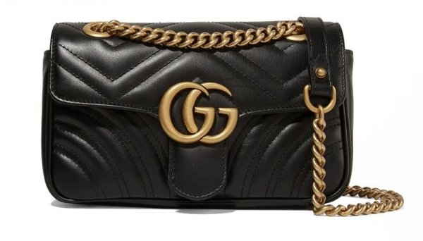 GG Marmont Quilted Leather Shoulder