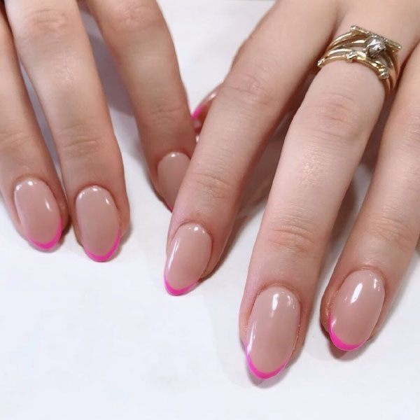 Pink Tip French Manicure
