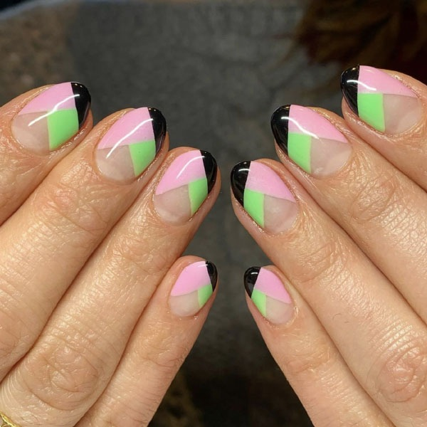 Pop Oval Color Nails