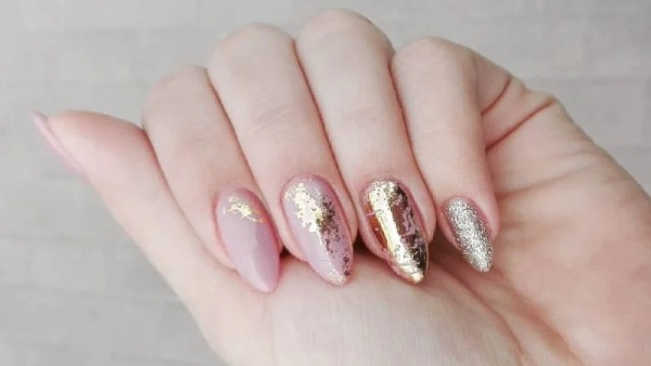 Gold and Pink