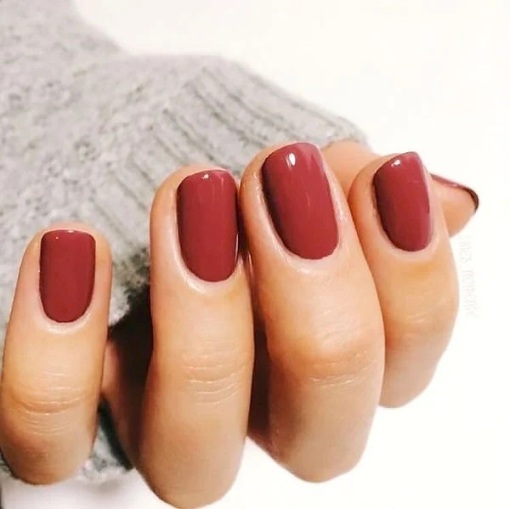 Soft Red Trending Fall Nail Colors