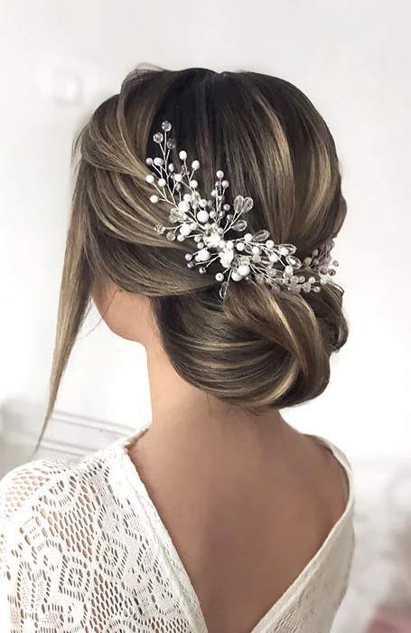 Bridal Hairstyle with Hair Comb