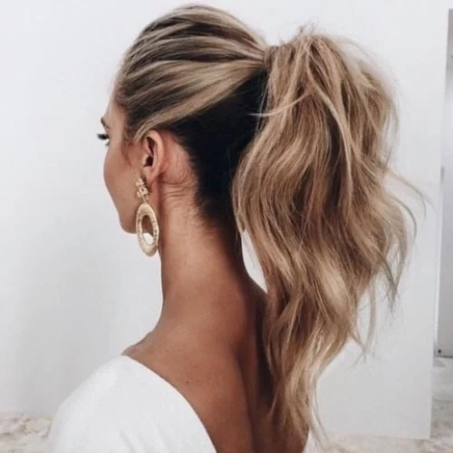 Textured Ponytail Hairstyles For Bridesmaids