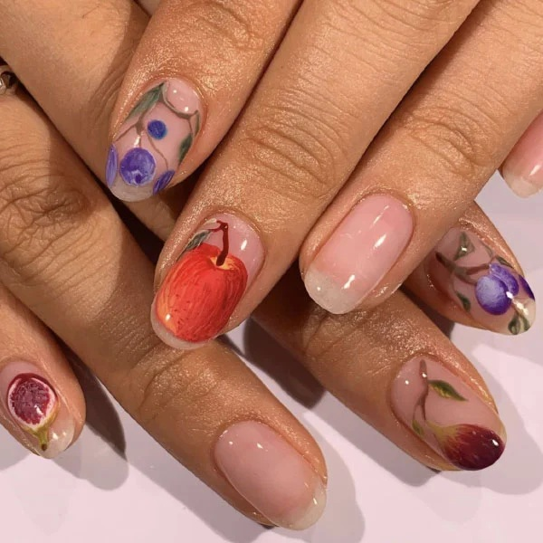 Fruity Oval Nails