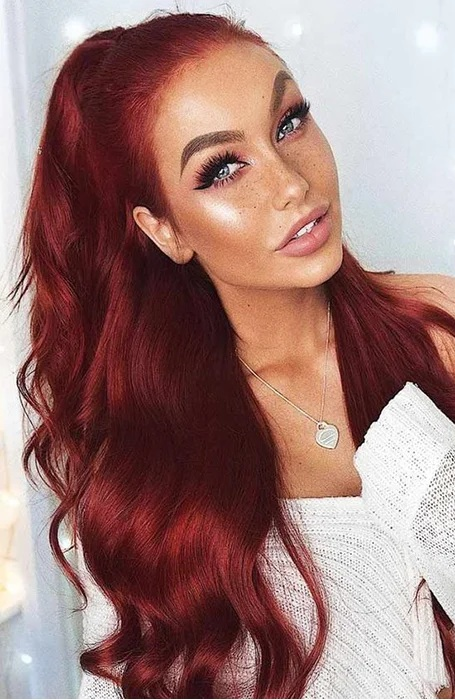 Red Clip-in Hair Extensions