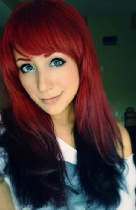 Reverse Ombre Red Hair