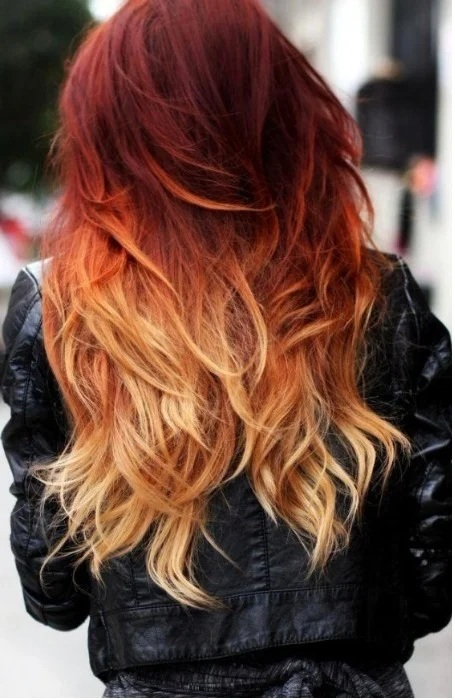 Ombre Dark Red Hair