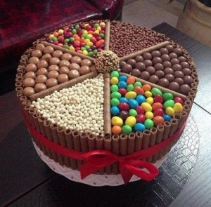 Chocolate Cake made of Wafers and Candies