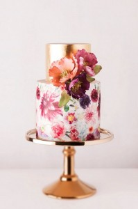 Elegant Gold and Spring Images of Birthday Cakes