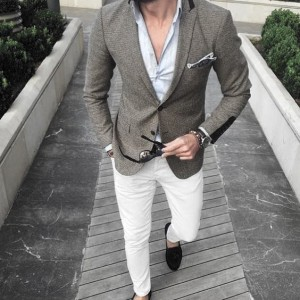 What To Wear With White Jeans For Men 11