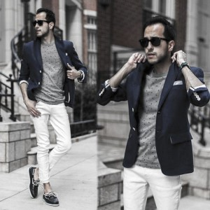 What To Wear With White Jeans For Men 16