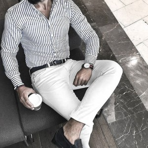 What To Wear With White Jeans For Men 18