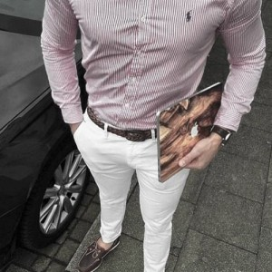 What To Wear With White Jeans For Men 24